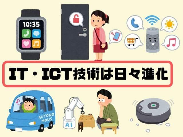 IT・ICT技術進化した機器の例