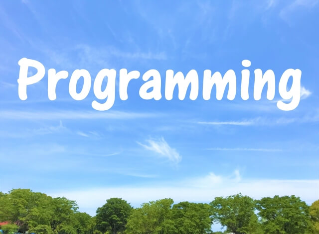 プログラミングの文字